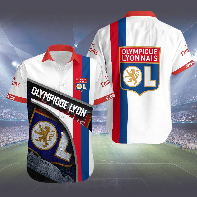 Olympique Lyonnais Hawaiian Shirt