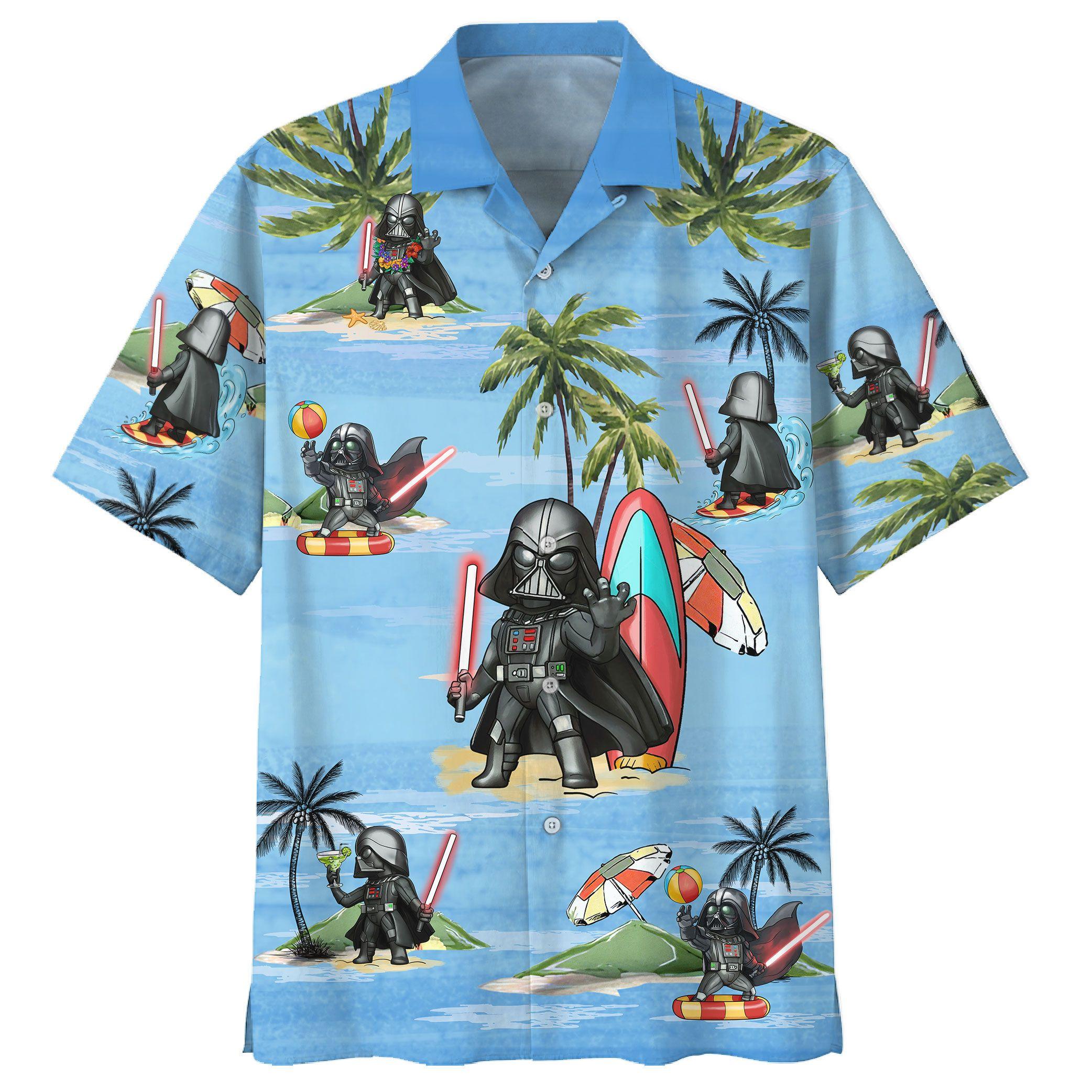 Darth Vader Summer Time Hawaiian Shirt