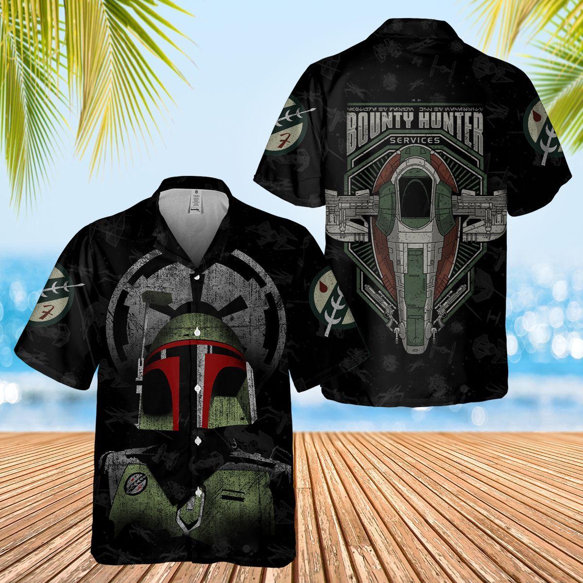 The Bounty Hunter Boba Fett mandalorian Hawaiian Shirt