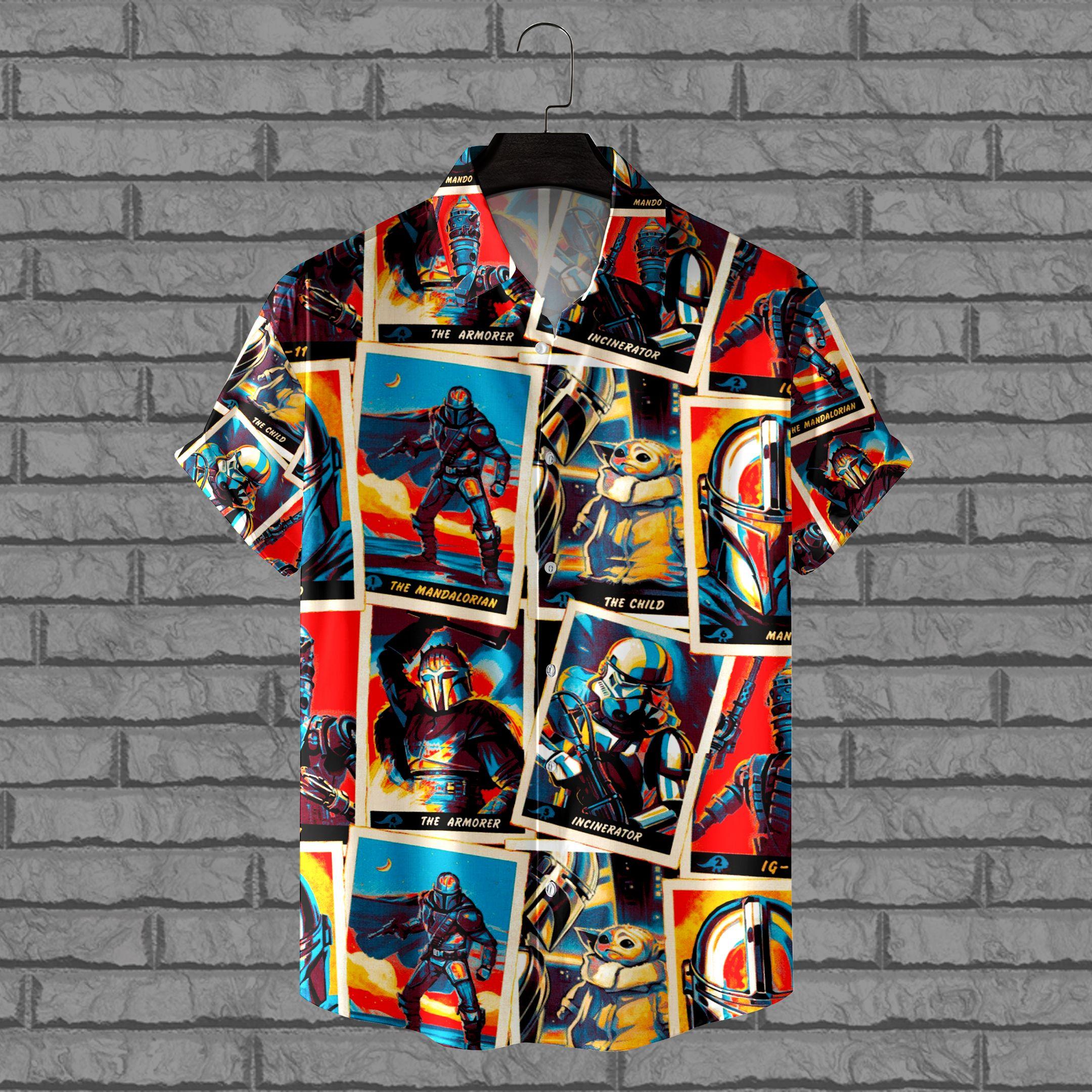 The Mandalorian Boba Fett Yoda Star wars Hawaiian Shirt