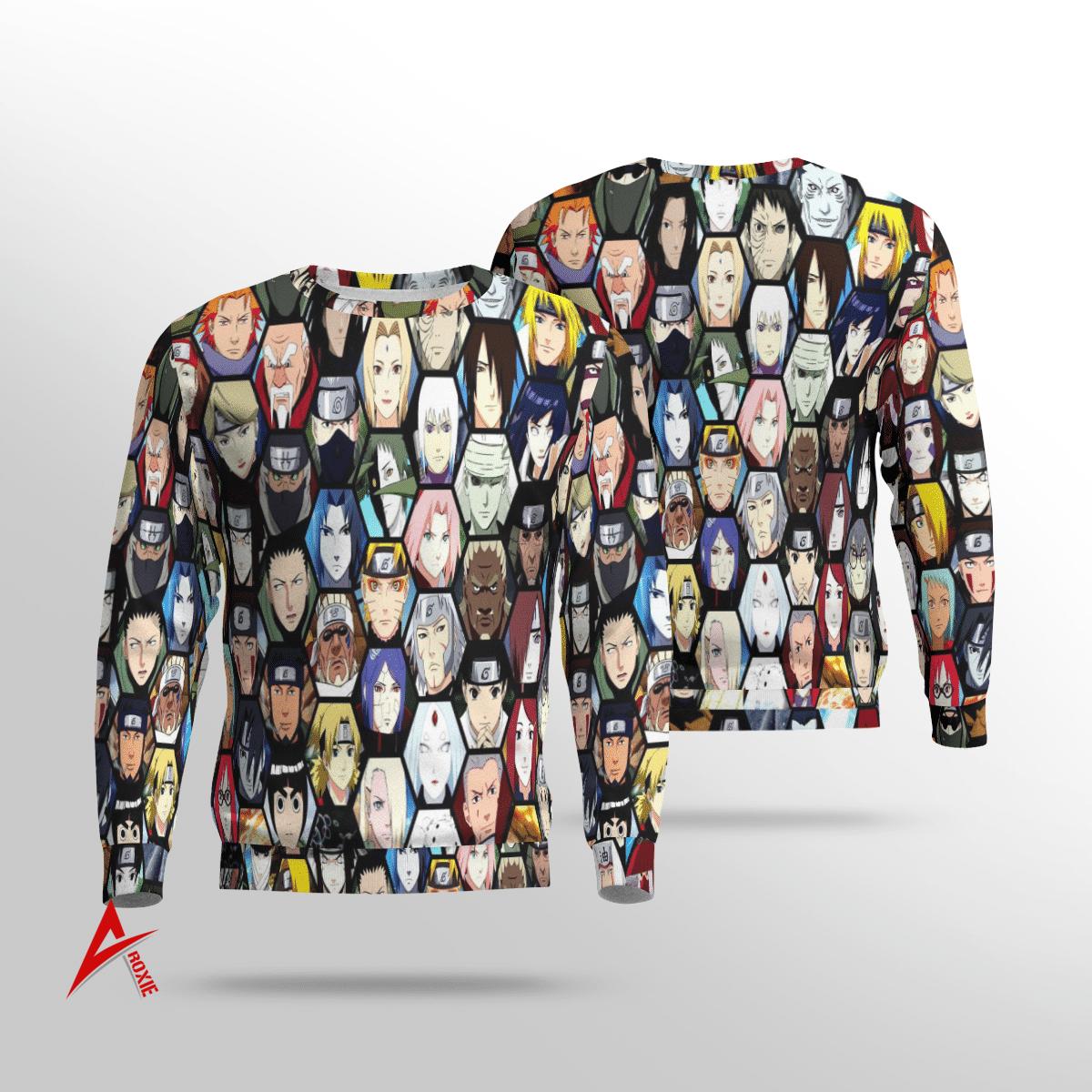 Naruto Characters All Sweatshirt 3D