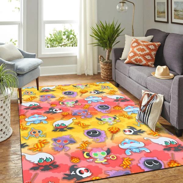 Pokemon Ghost Halloween Carpet Rug