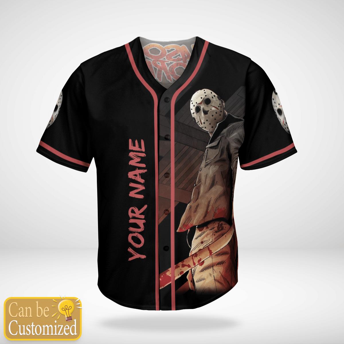 Personalized Jason Voorhees Friday 13th baseball Jersey Shirt