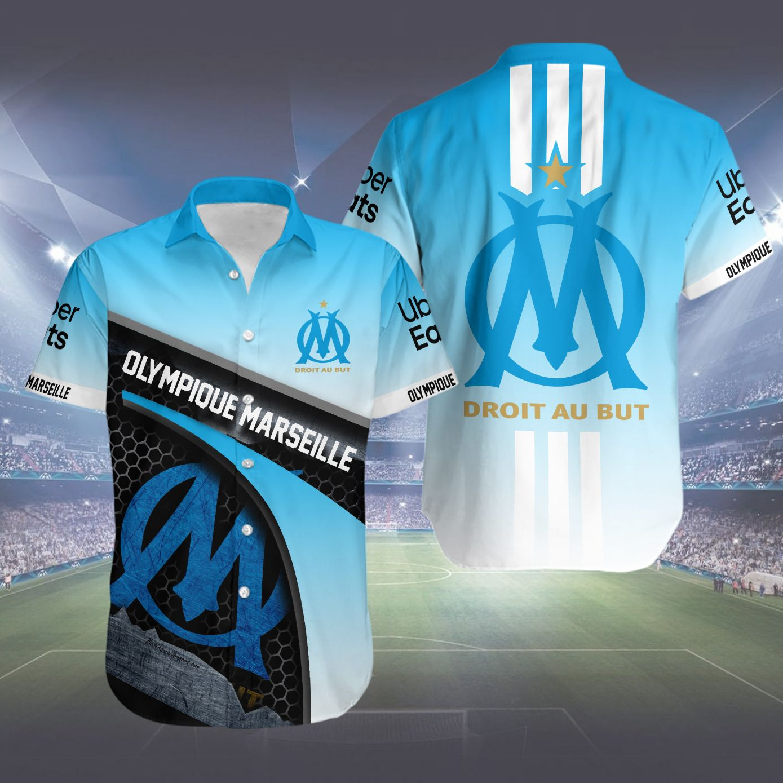 Olympique Marseille Hawaiian Shirt