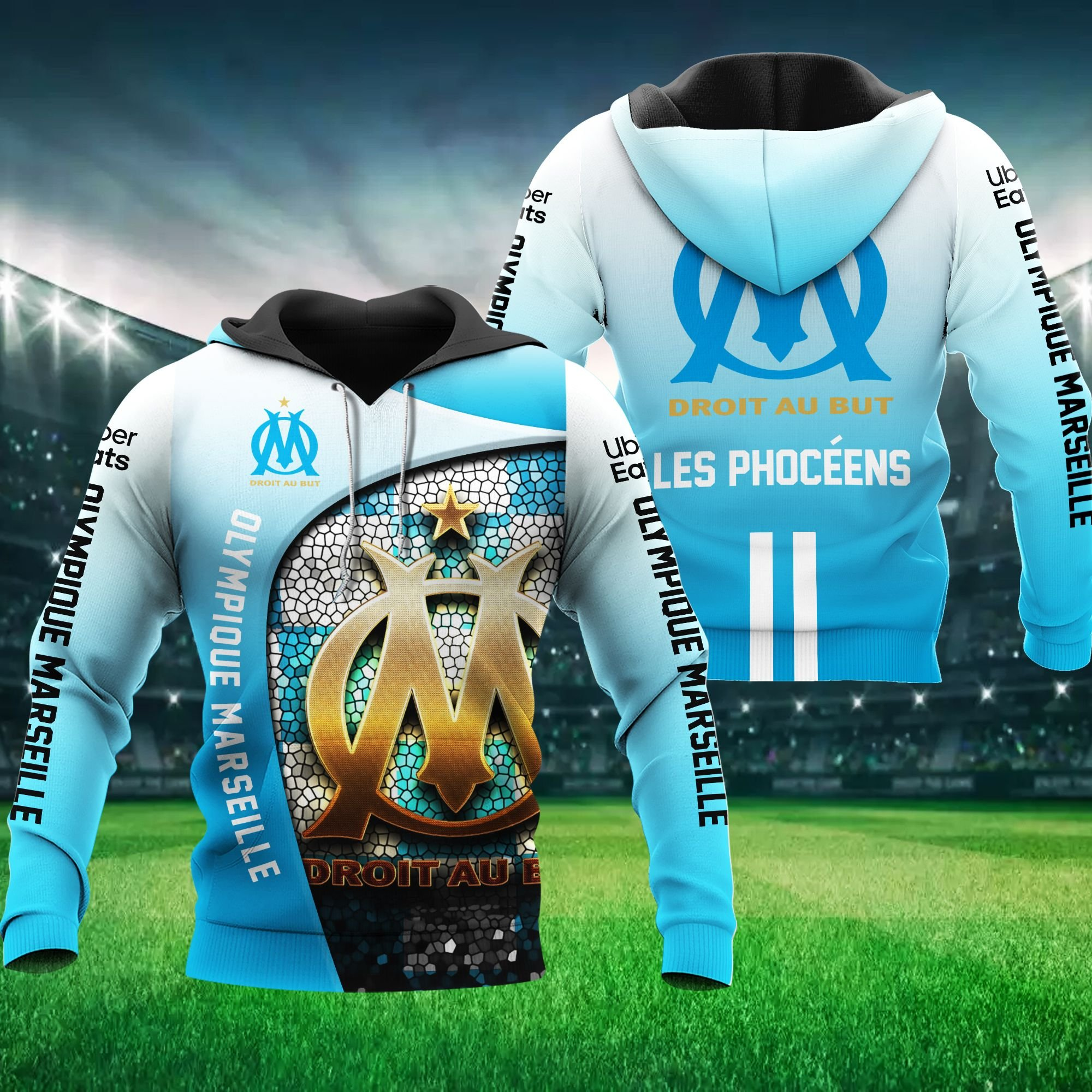 Olympique Marseille Hoodie 3D Les Phoceens