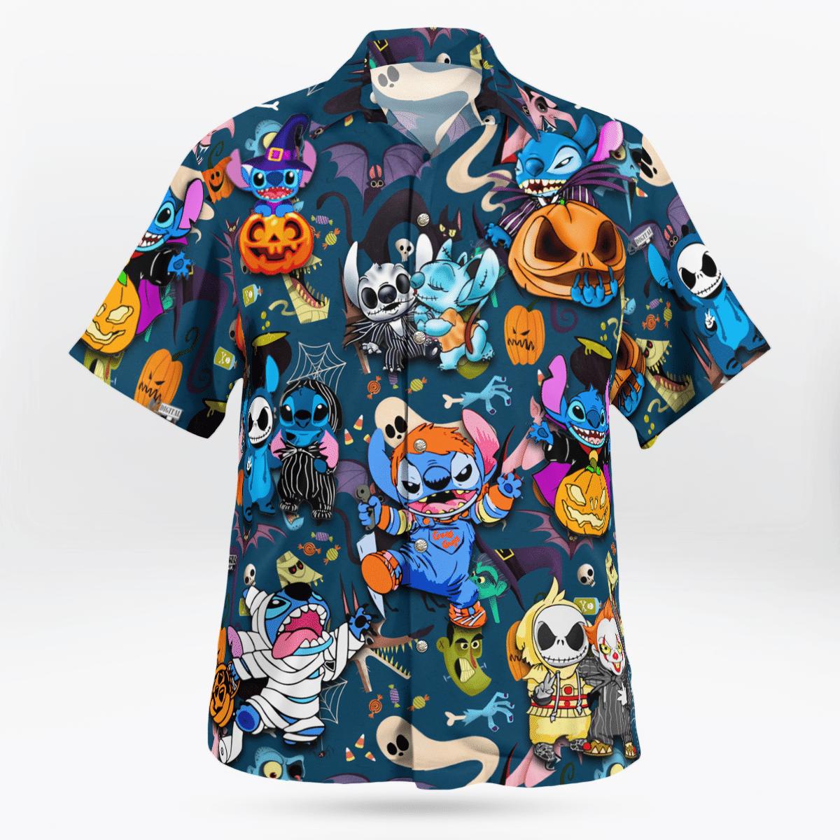 Funny Stitch Halloween Hawaiian Shirt