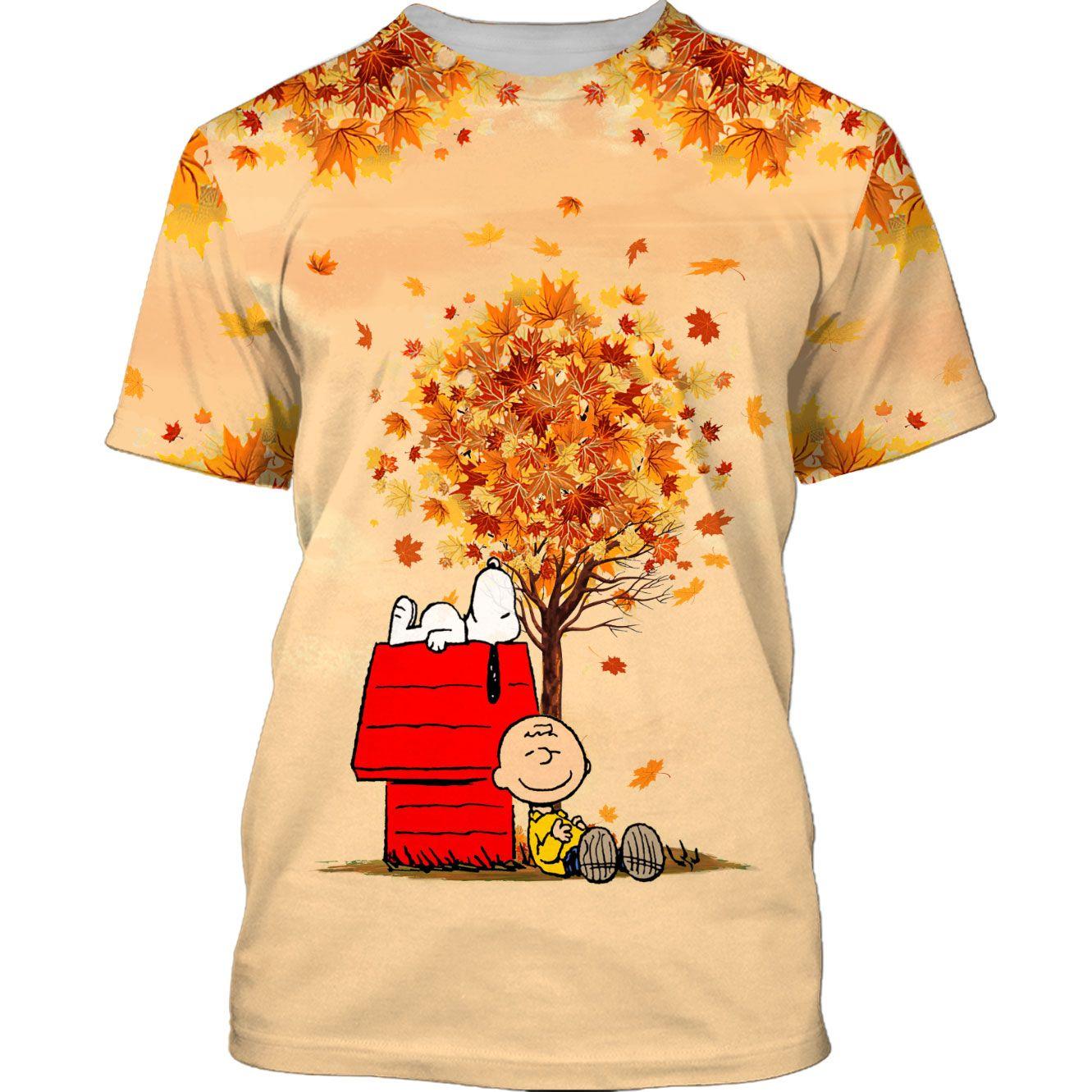 Snoopy Autumn Time Tshirt 3D