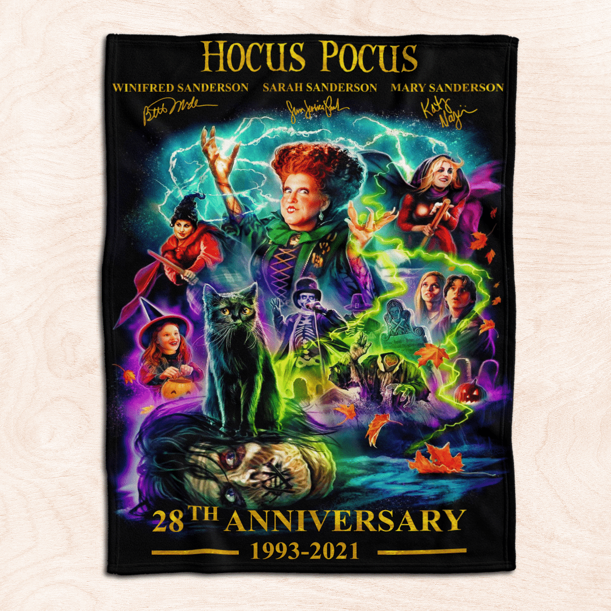 Hocus Pocus 28th Anniversary Premium Fleece Blanket