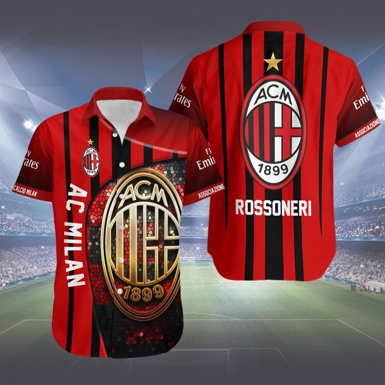 AC Milan Rossoneri Hawaiian Shirt