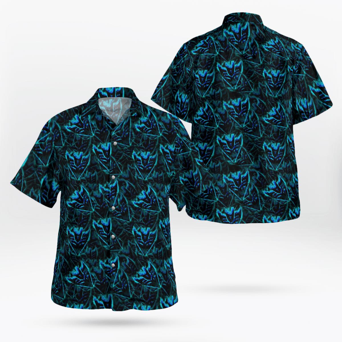 Decepticon Transformer 80s Hawaiian Shirt