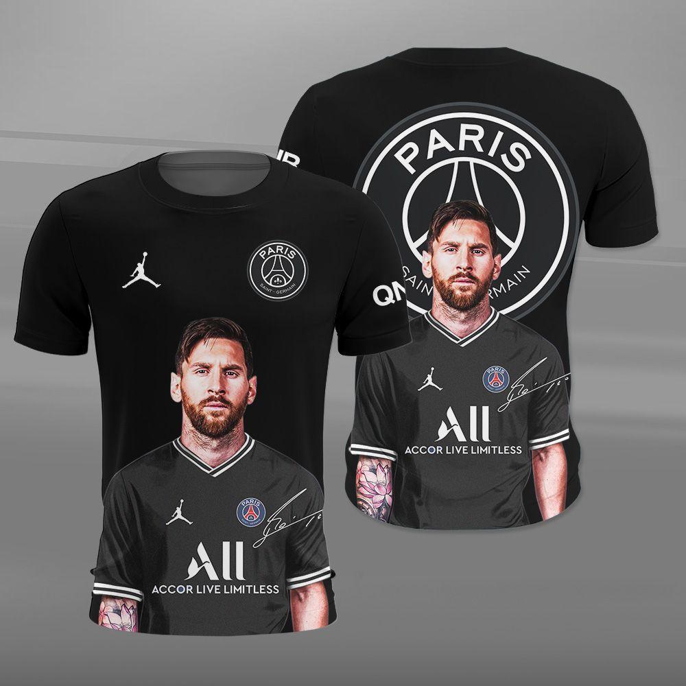 Messi Going to PSG Shirt 3D