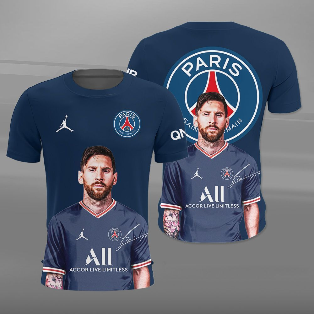 PSG Messi fame 3D shirt