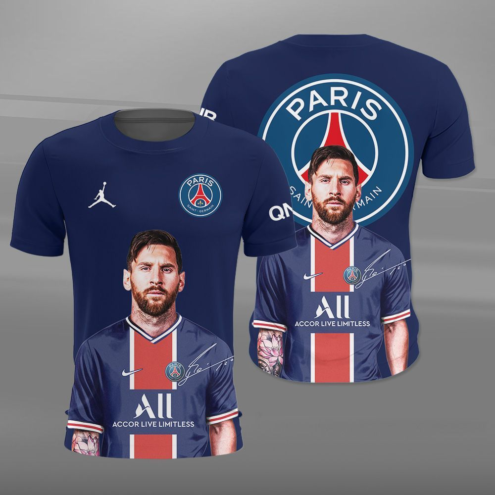 Lionel Messi Going to PSG 3D shirt