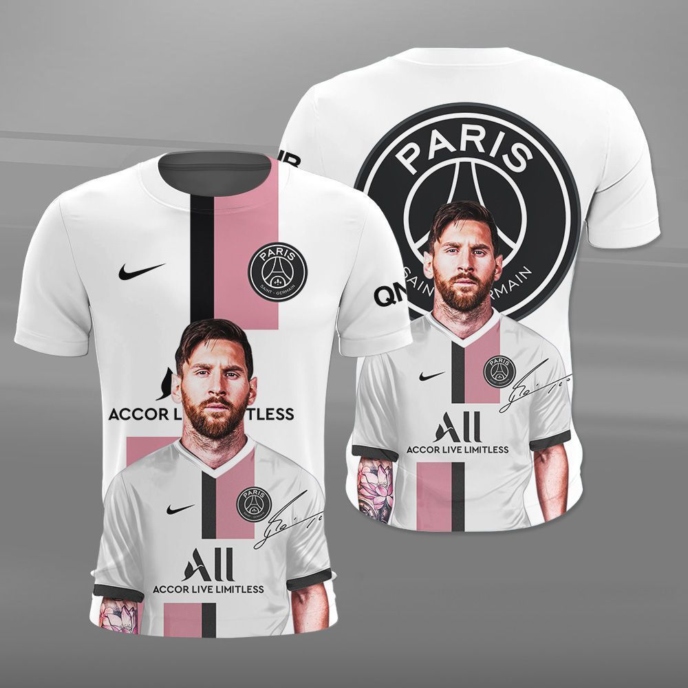 PSG Lionel Messi fame 3D shirt