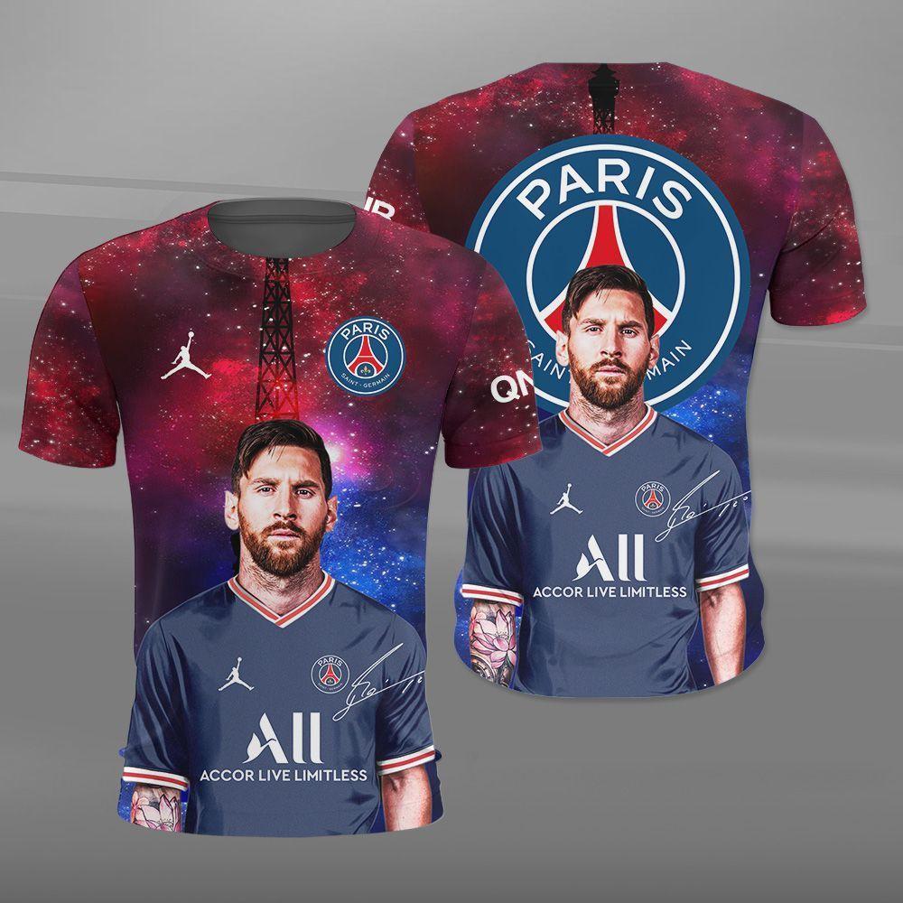 Lionel Messi PSG Champions League Shirt 3D