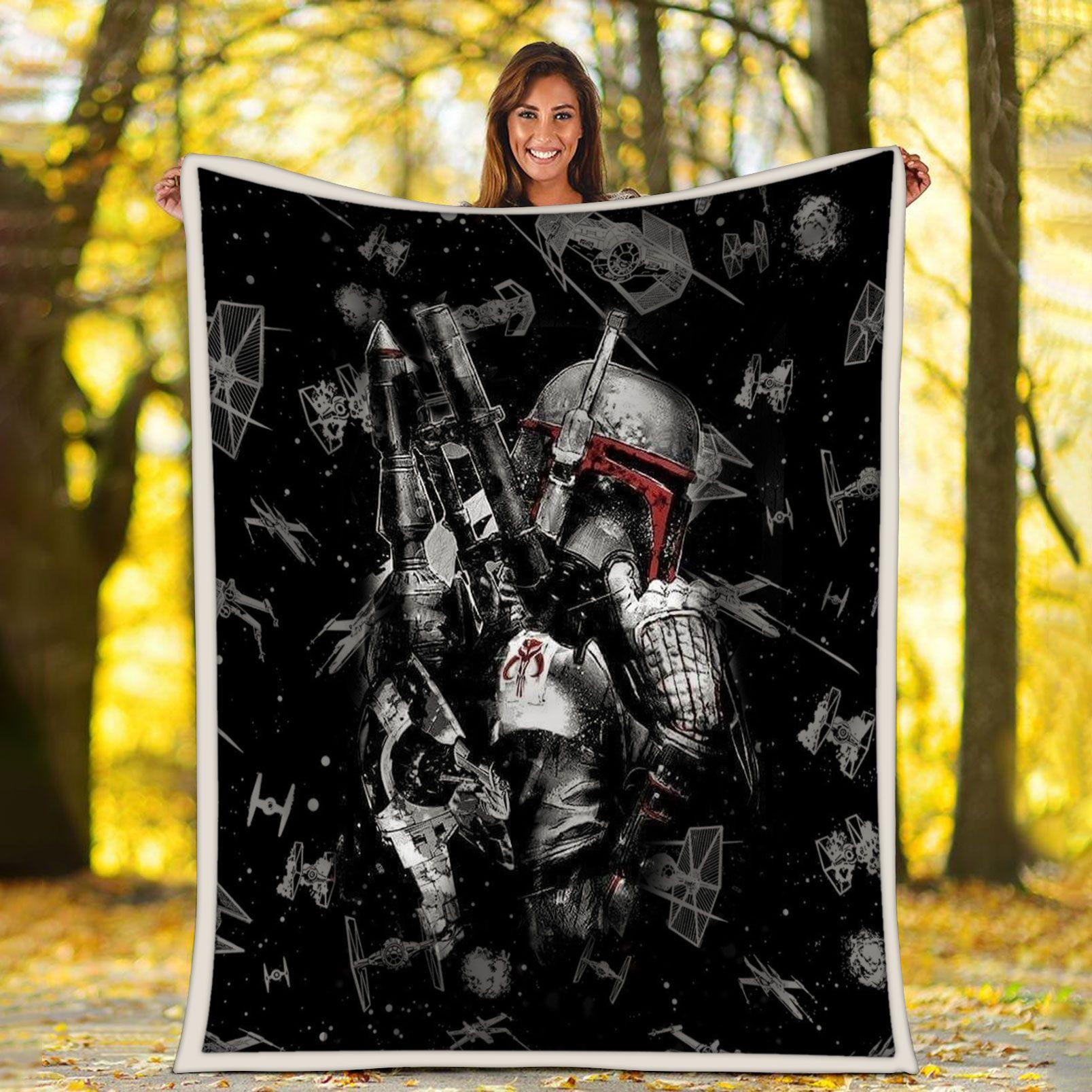 Star wars Boba Fett Bounty Hunter Fleece Blanket
