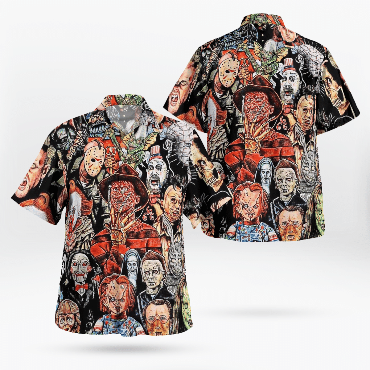 Horror Characters Halloween Movie Hawaiian Shirt Best