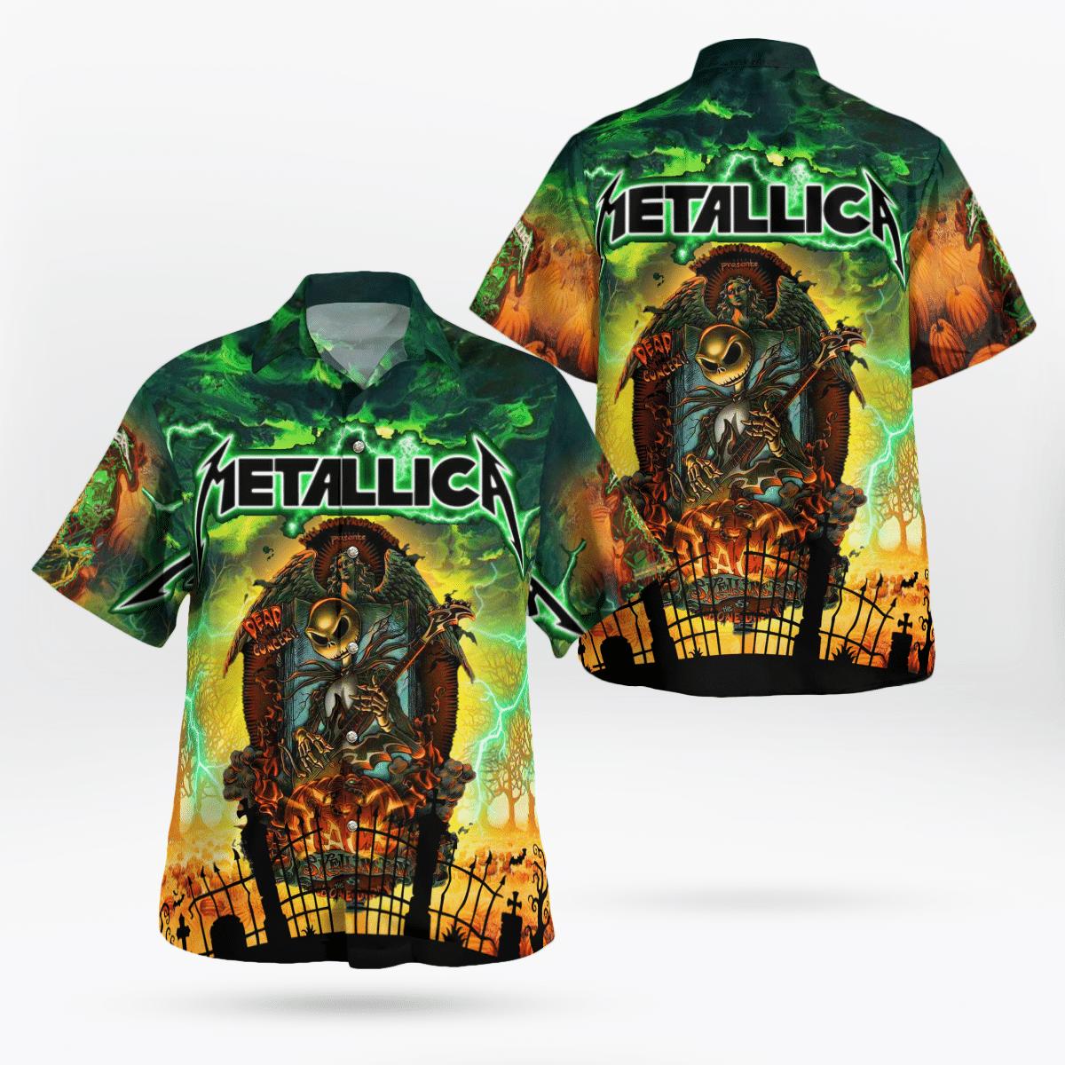 Metallica Jack Skellington Hawaiian Shirt