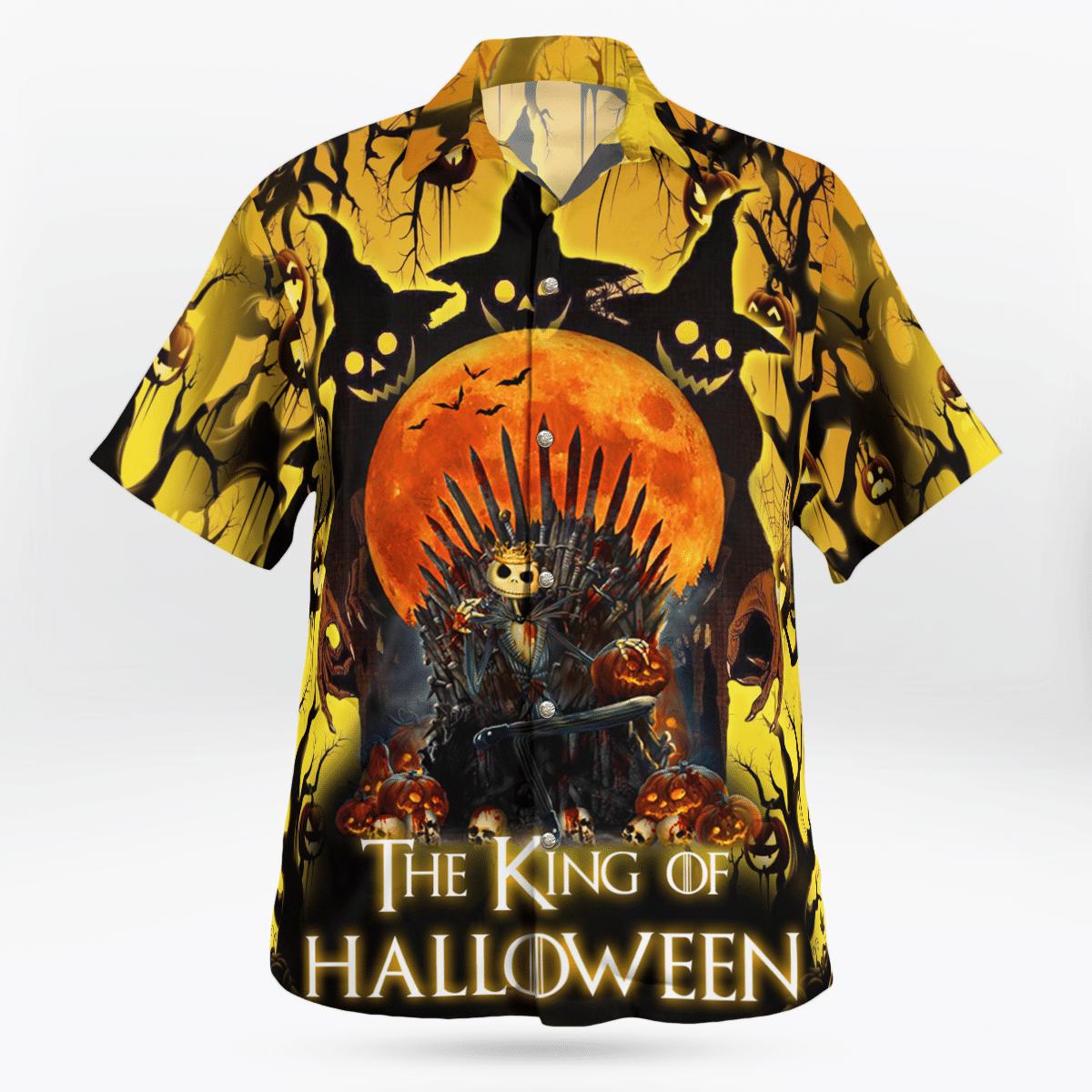 Jack Skellington Iron Throne King Of Halloween Shirt