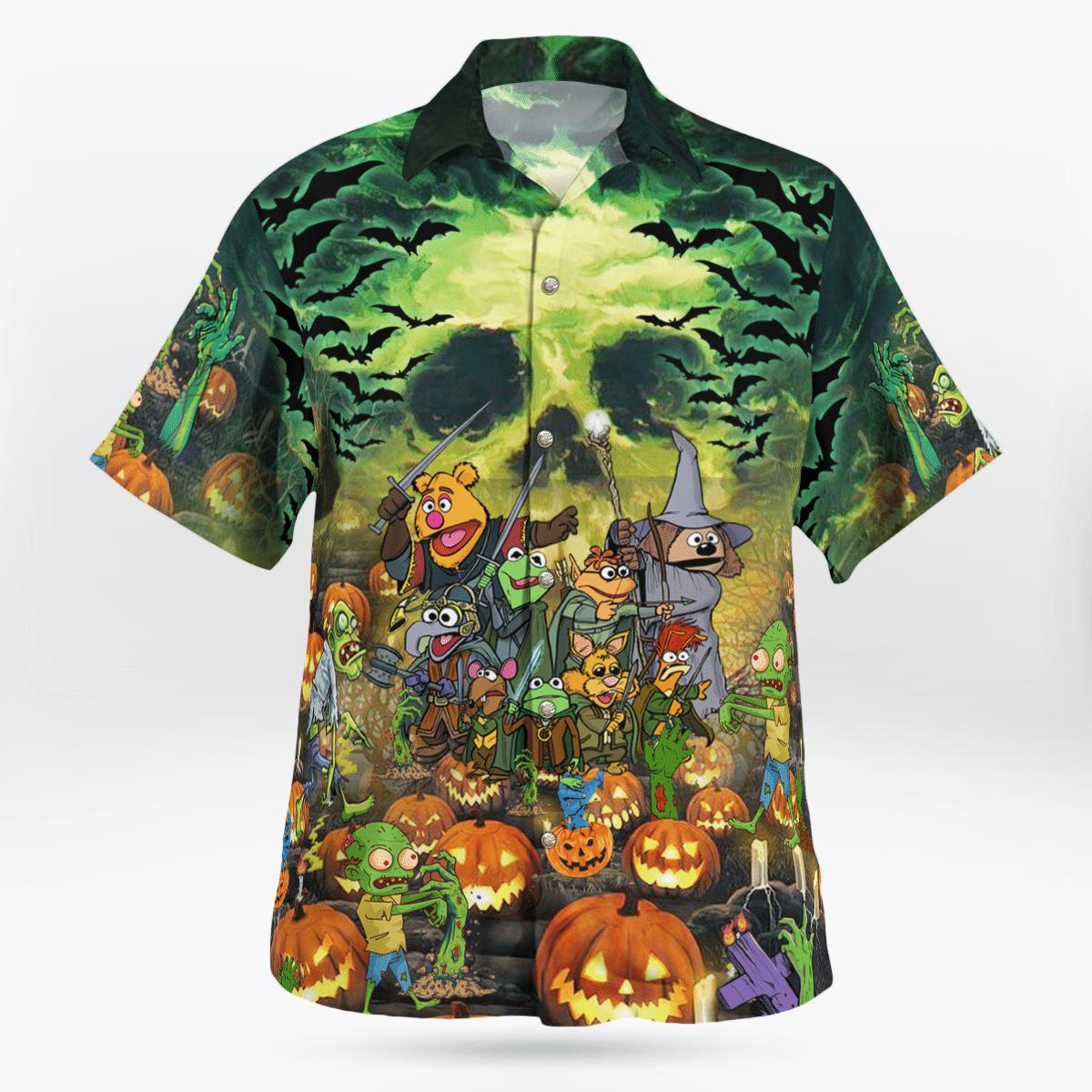 The Muppetss Just Wanna Have Fun Hallowen Hawaiian Shirt