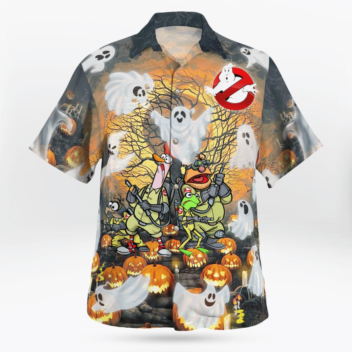 Ghost mupperss Halloween Funny Hawaiian Shirt