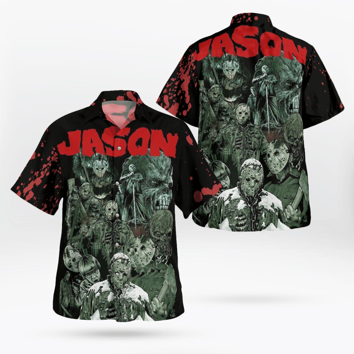 Jason Horror Characters Halloween Movie Hawaiian Shirt