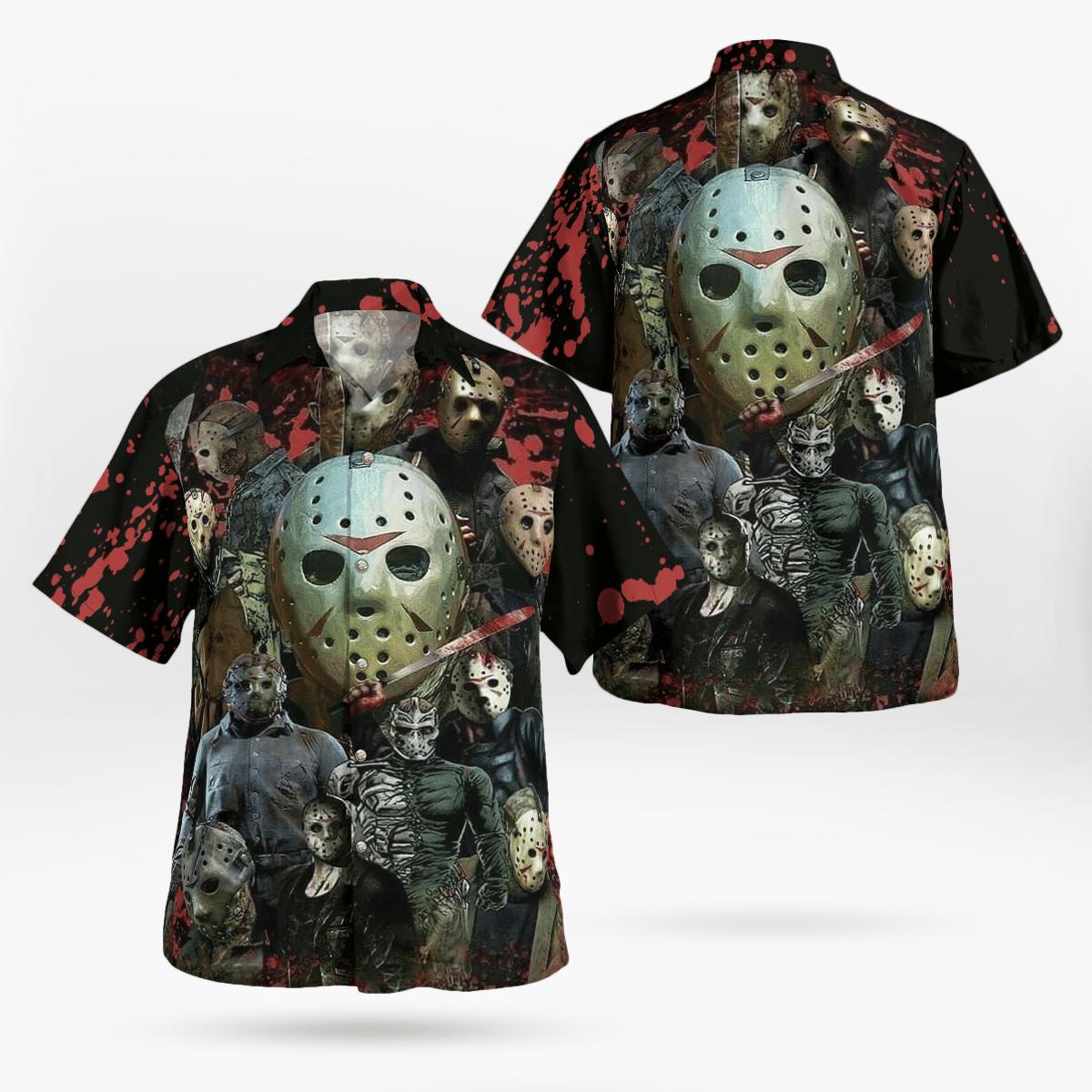 Jason Voorhees Face Halloween Hawaiian Shirt