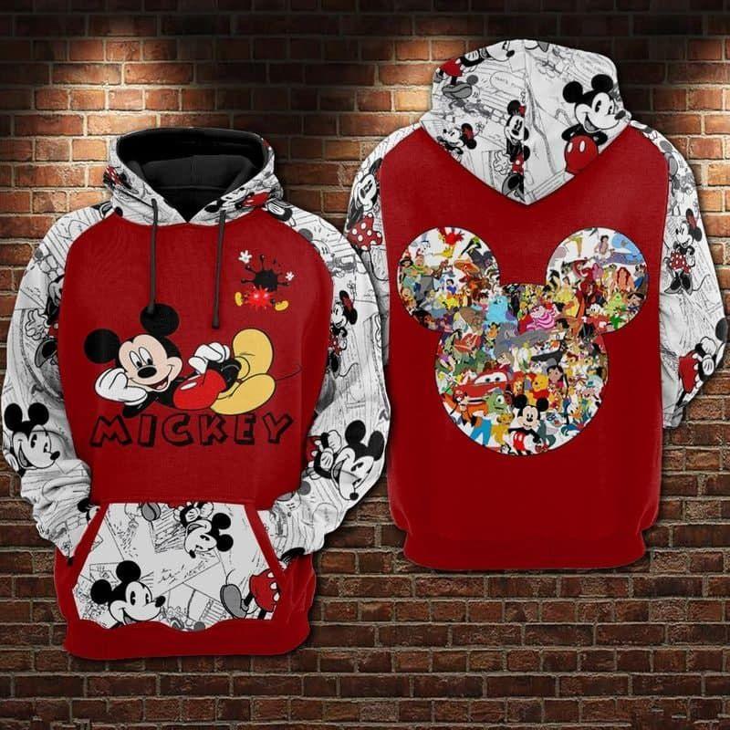 Mickey Mouse Hoodie 3D Sweatshirt Tshirt
