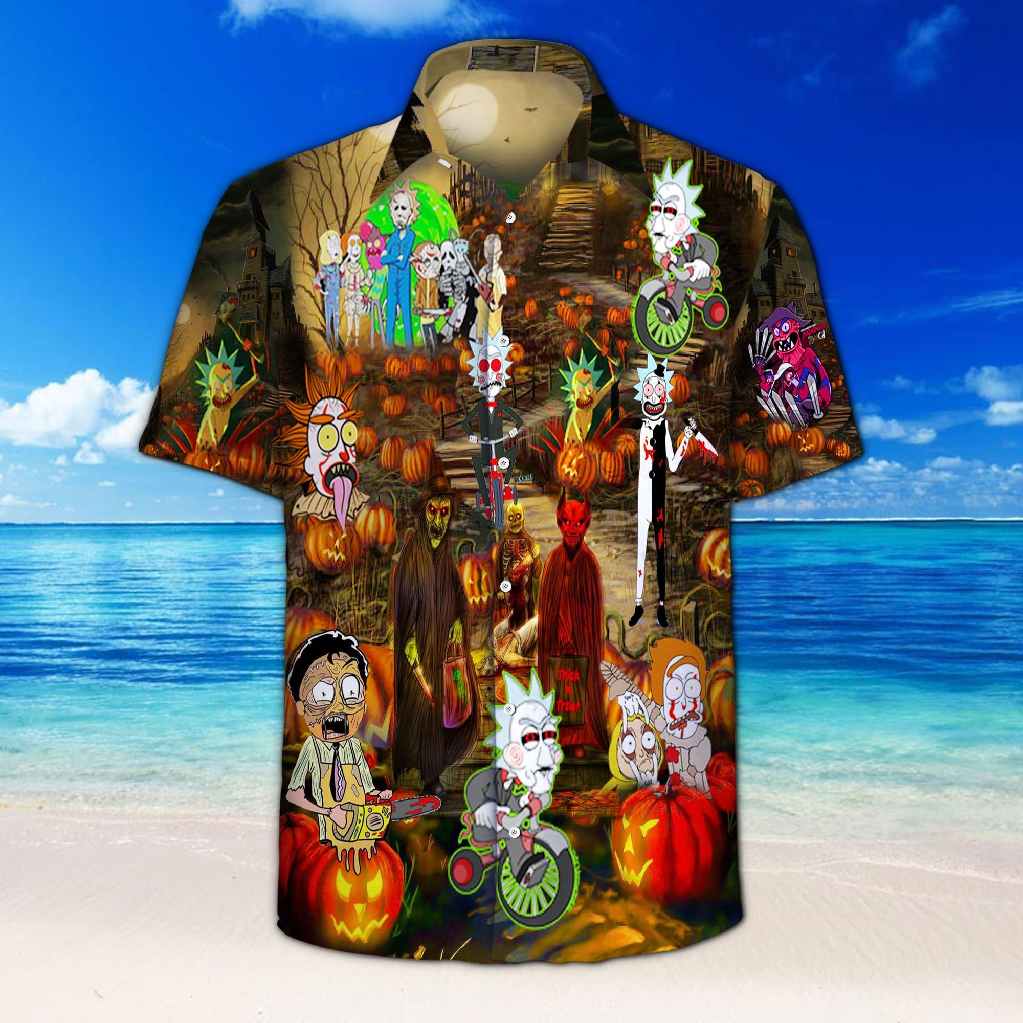 Halloween Wonderful Time Of The Year For Slaying Hawaiian Shirt