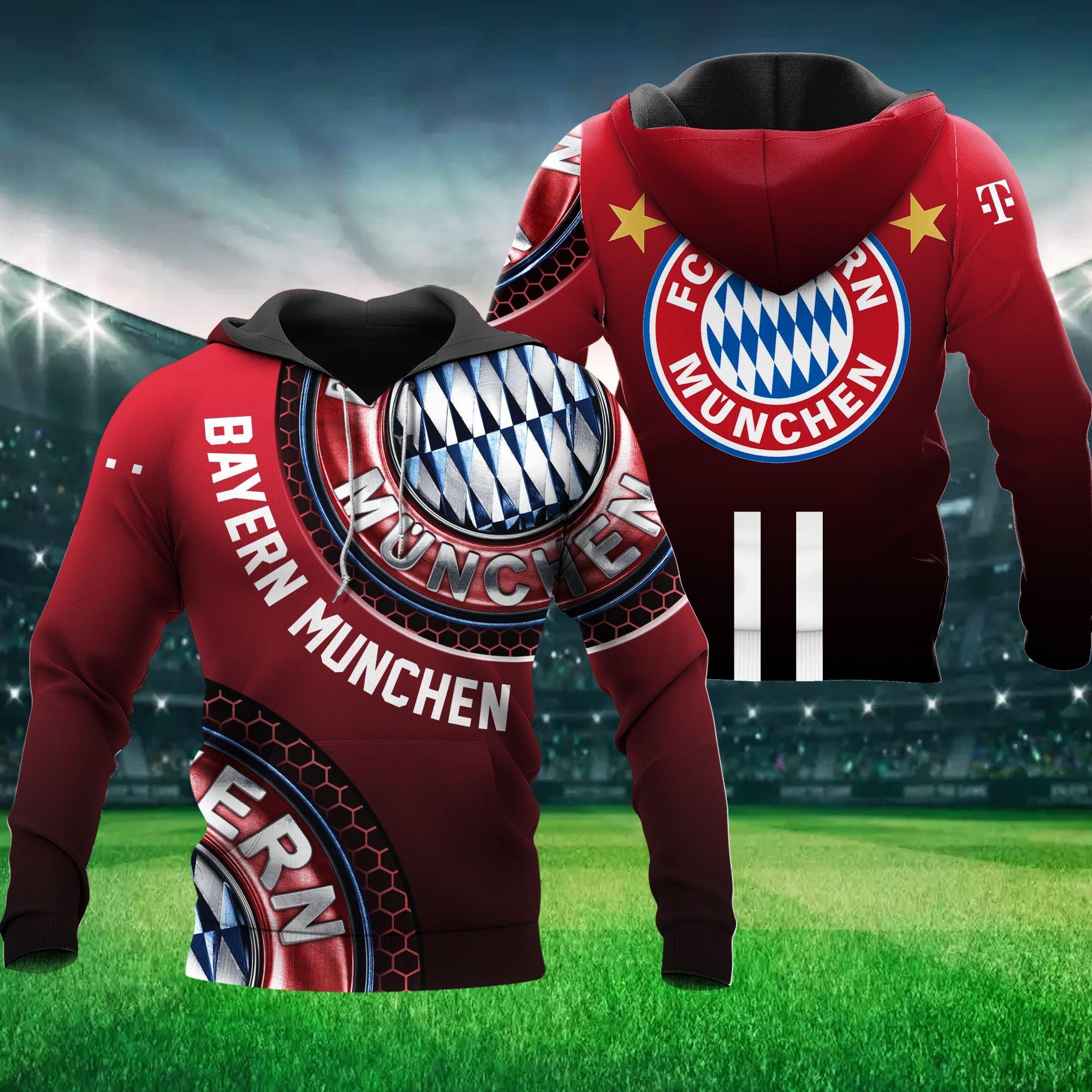 Bayern Munchen 3D Hoodie