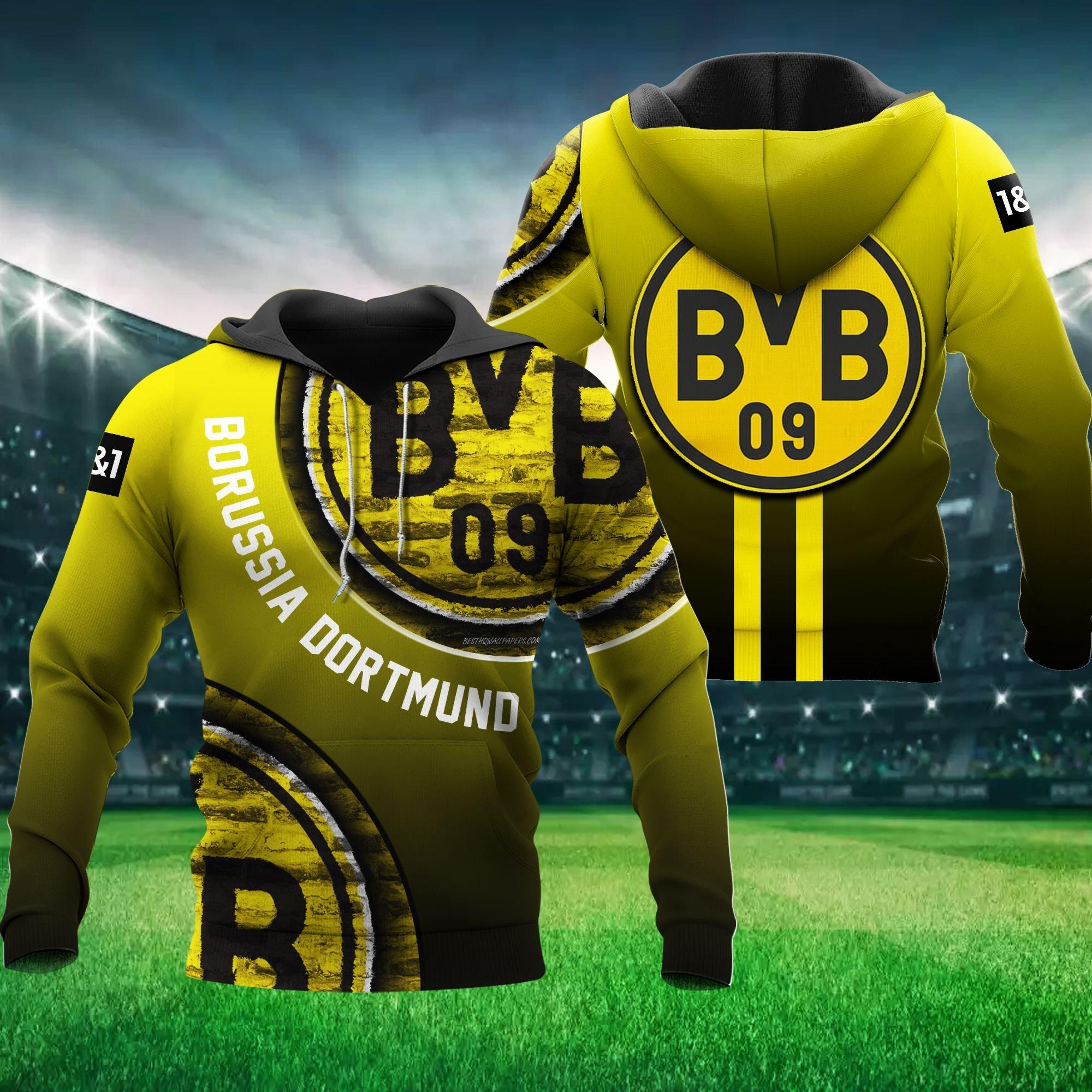 BvB Borussia Dortmund 3D Hoodie