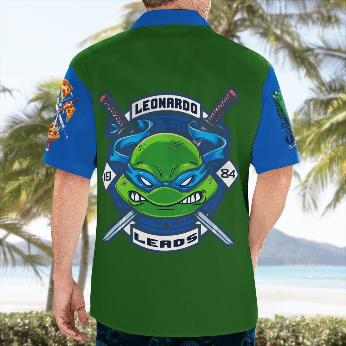 Teenage Mutant Ninja Turtles Leonardo Hawaiian Shirt