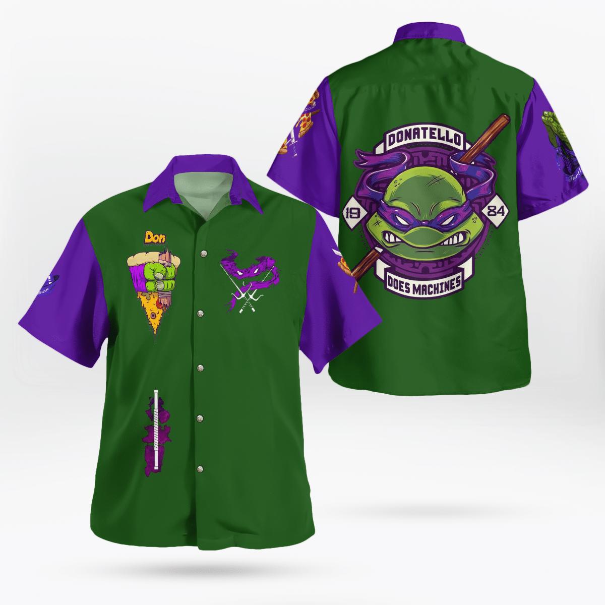 Teenage Mutant Ninja Turtles Donatello Hawaiian Shirt