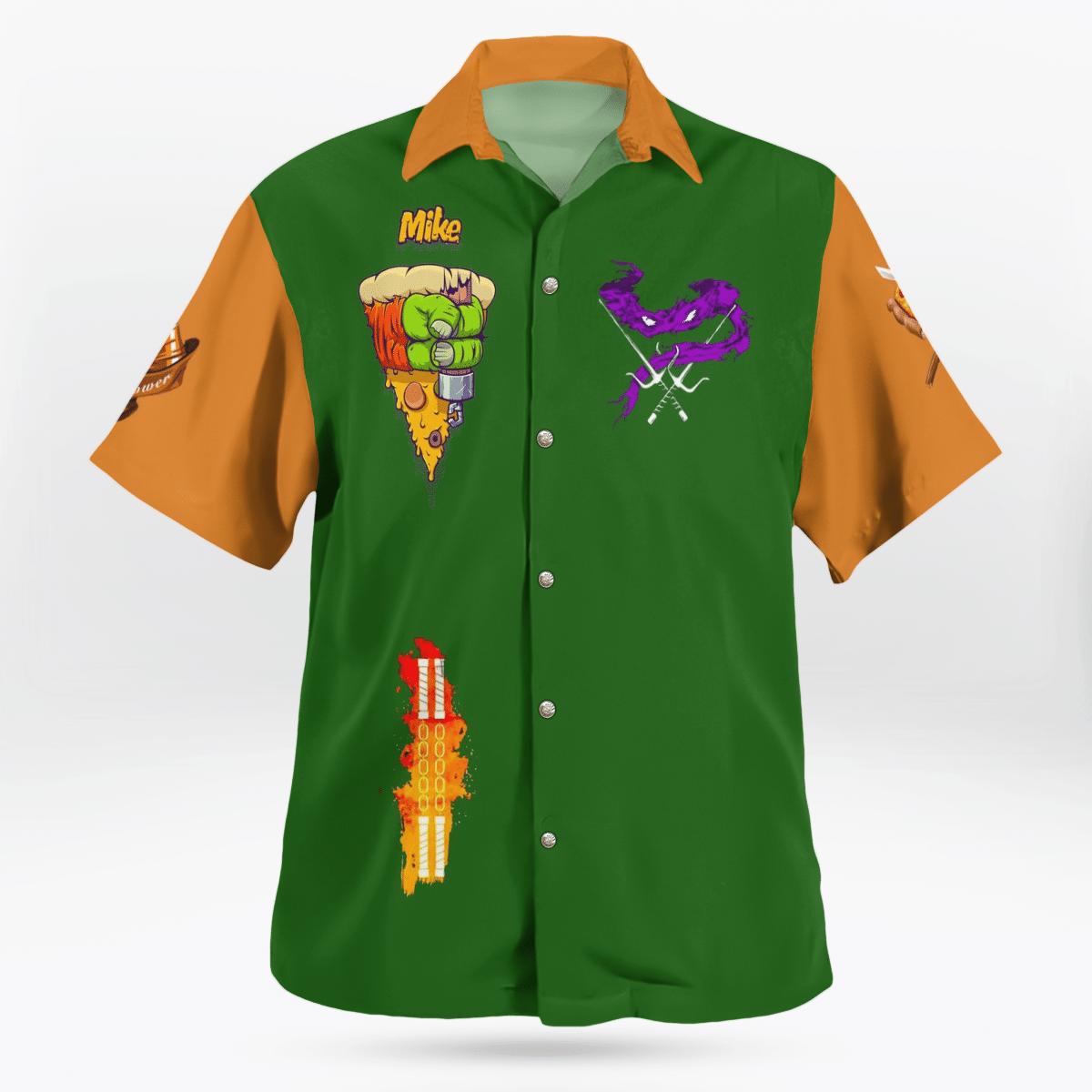 Teenage Mutant Ninja Turtles Michelangelo Hawaiian Shirt