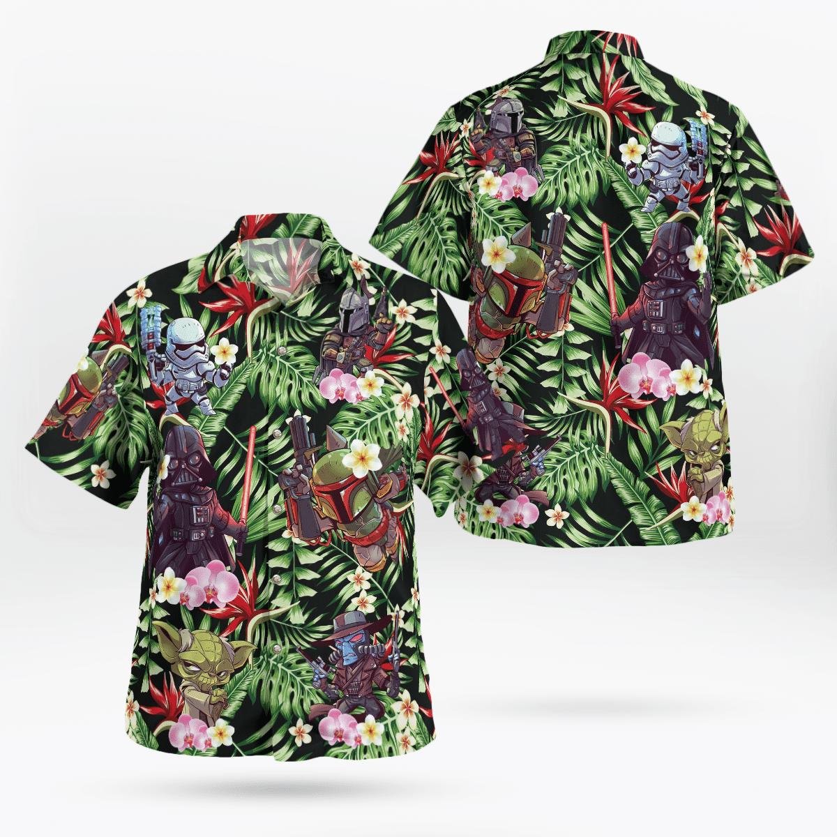 Star wars Mini Characters Floral Hawaiian Shirt