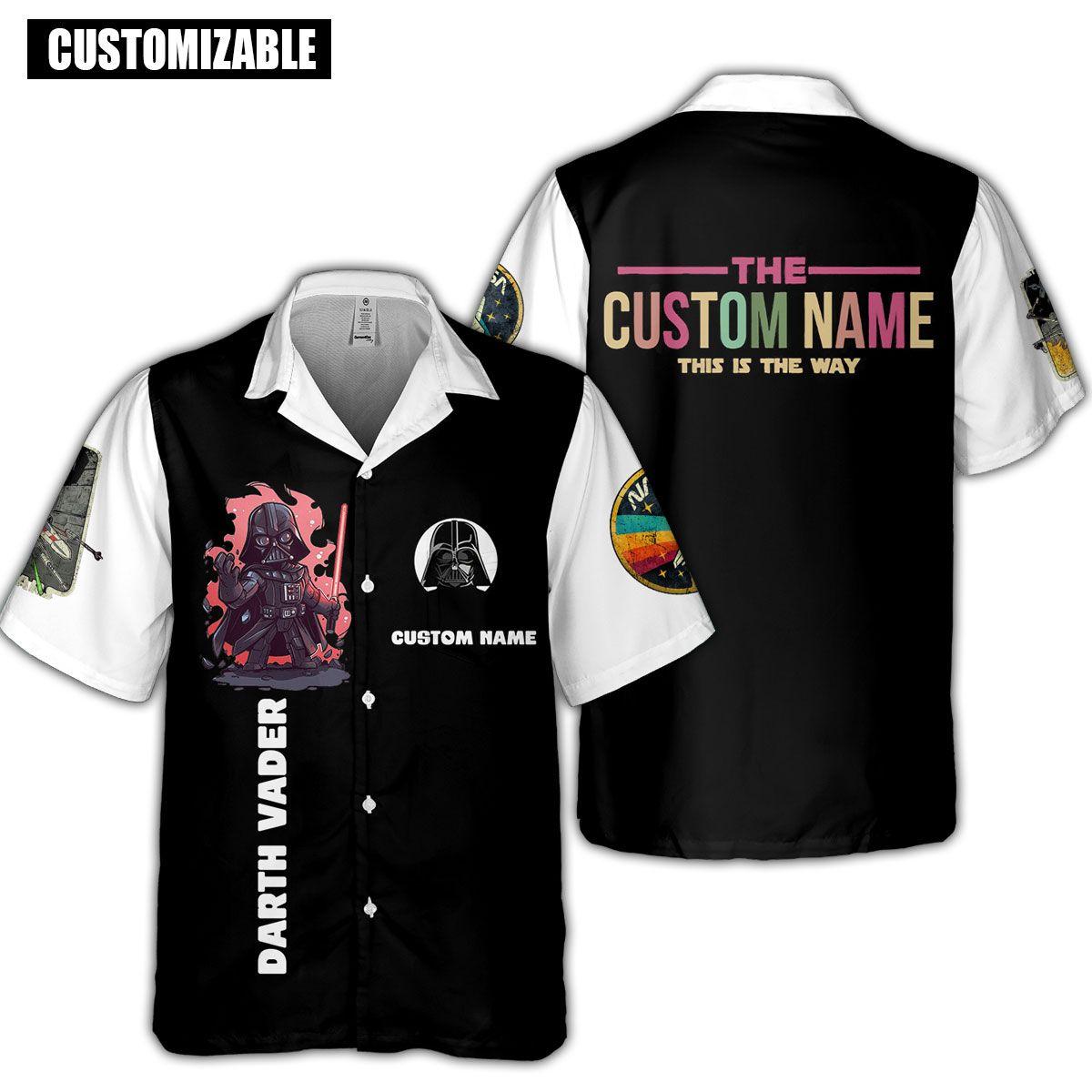 SW Vader Custom Name This is the way Hawaiian Shirt