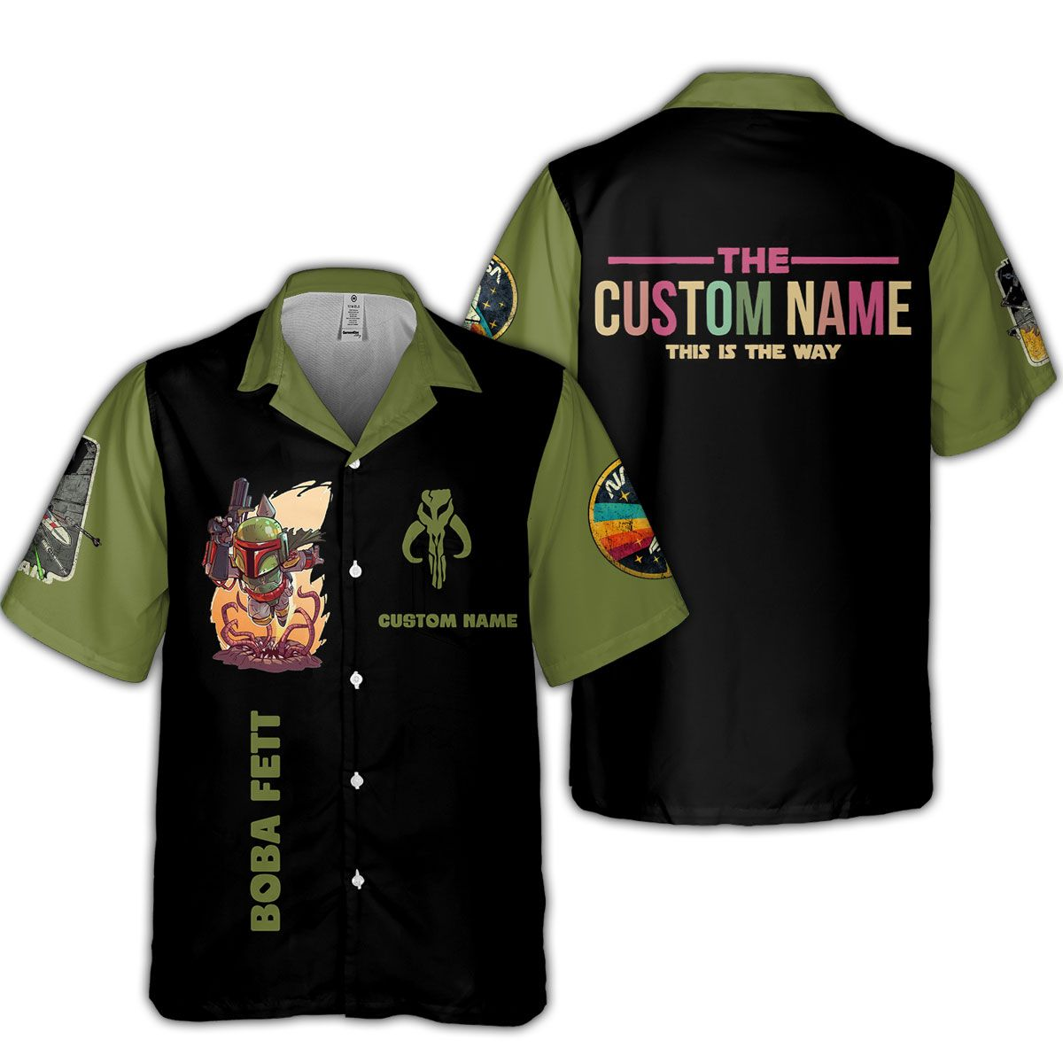 SW Fett Custom Name This is the way Hawaiian Shirt