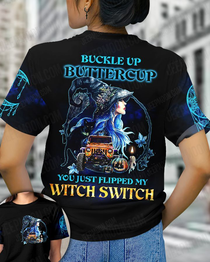 Halloween Buckle Up Buttercup you just flipped my witch switch sweatshirt