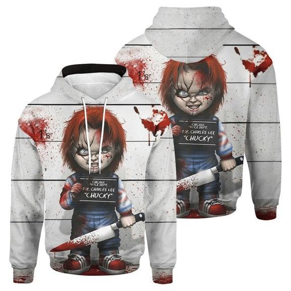 Horror Doll Hoodie 3D