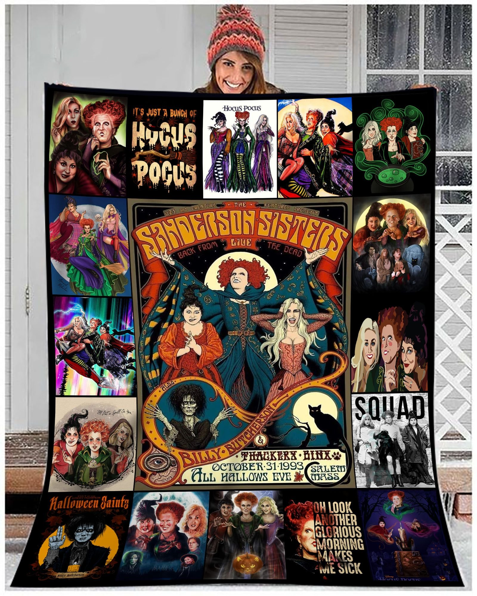 In A World Full Of Basic Witches Be A Sanderson Halloween Blanket