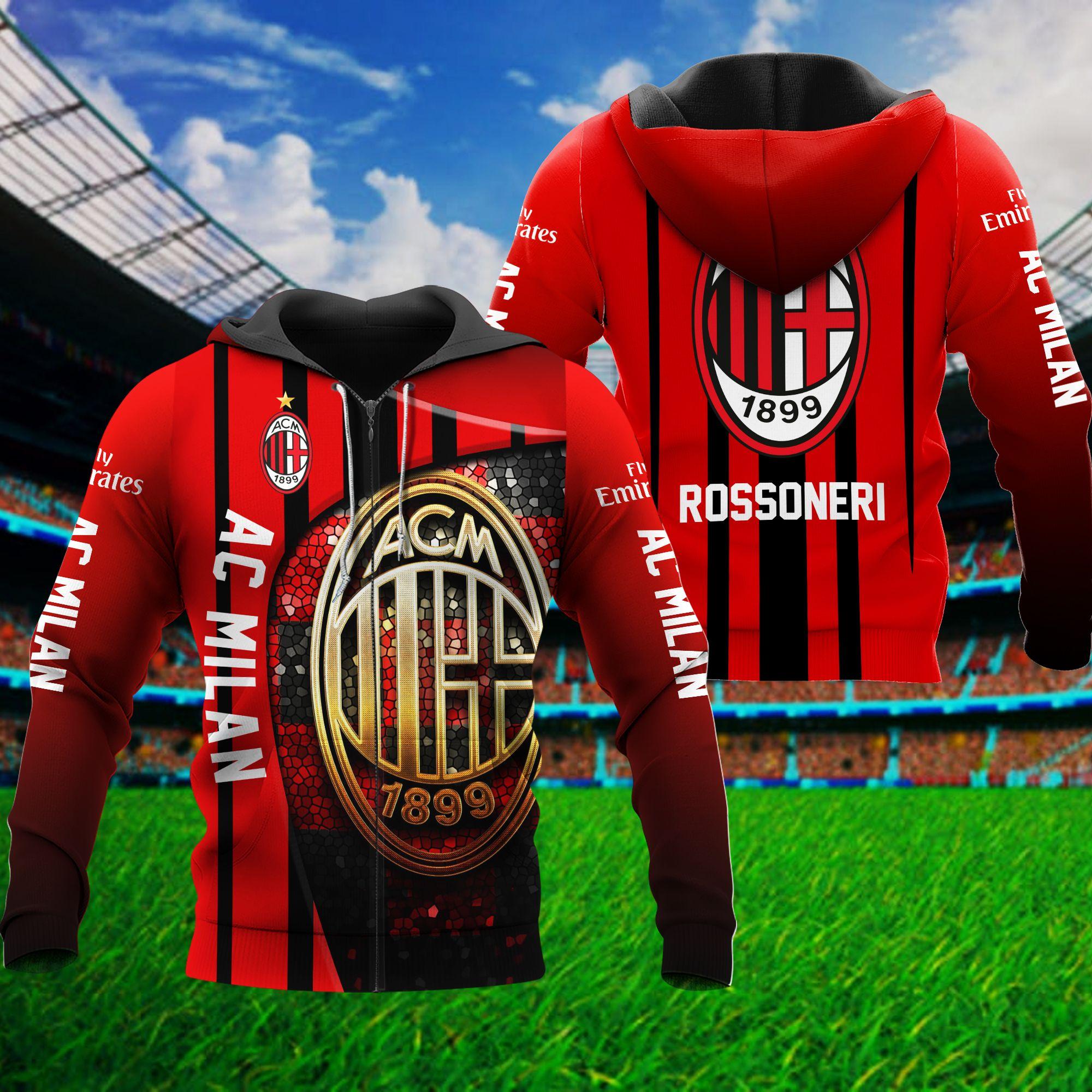 AC Milan Rossoneri 3D Hoodie