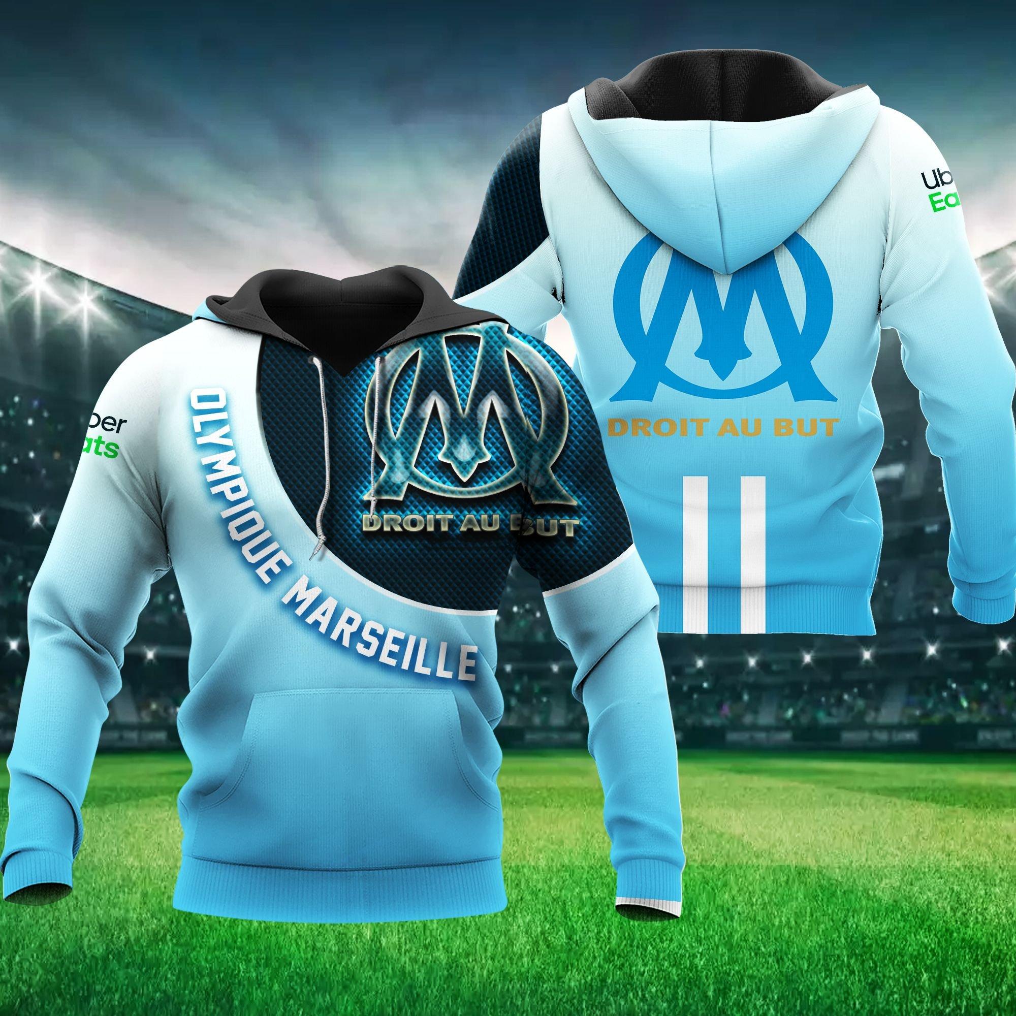 Olympique de Marseille Droit Au But Hoodie 3D
