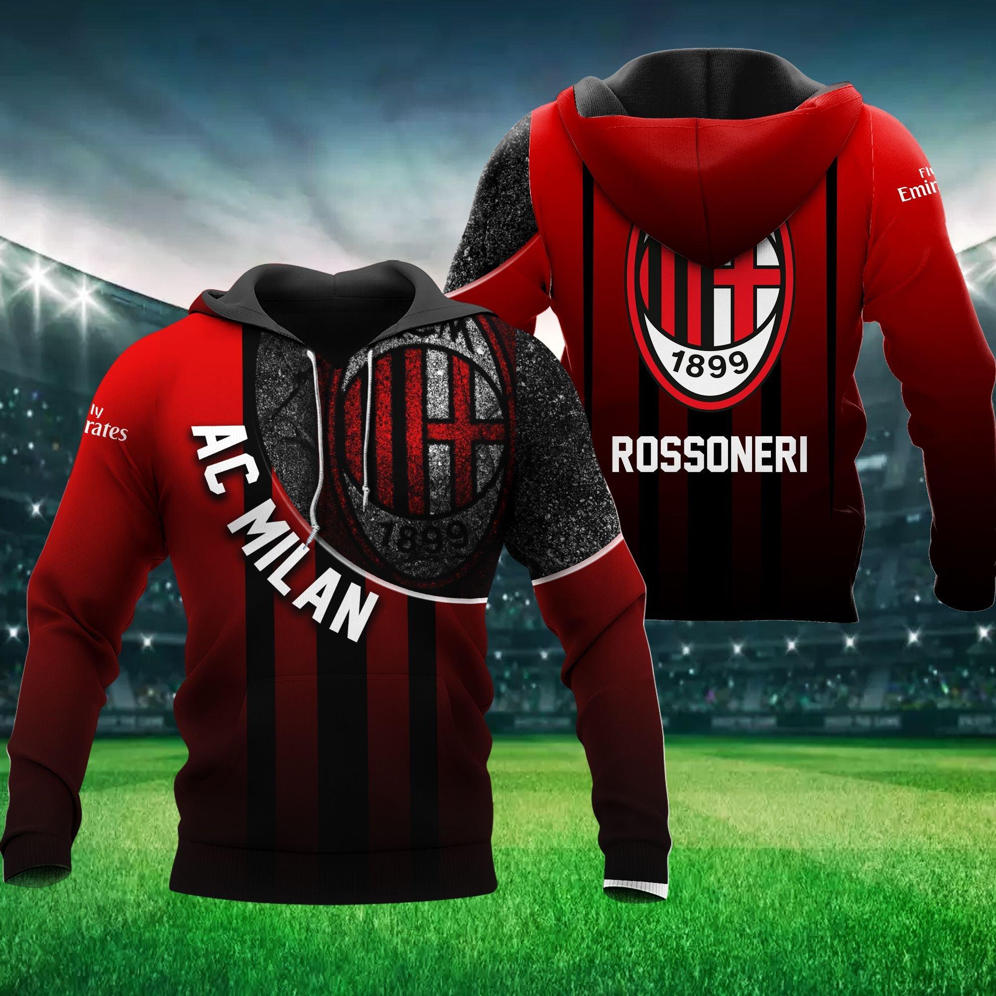 AC Milan Rossoneri Hoodie 3D