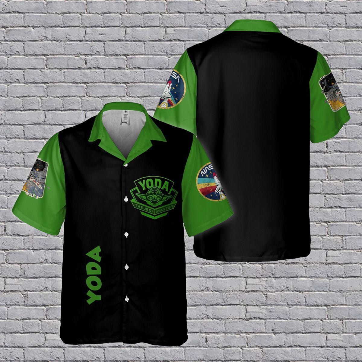 SW Yoda Custom Name Hawaiian Shirt