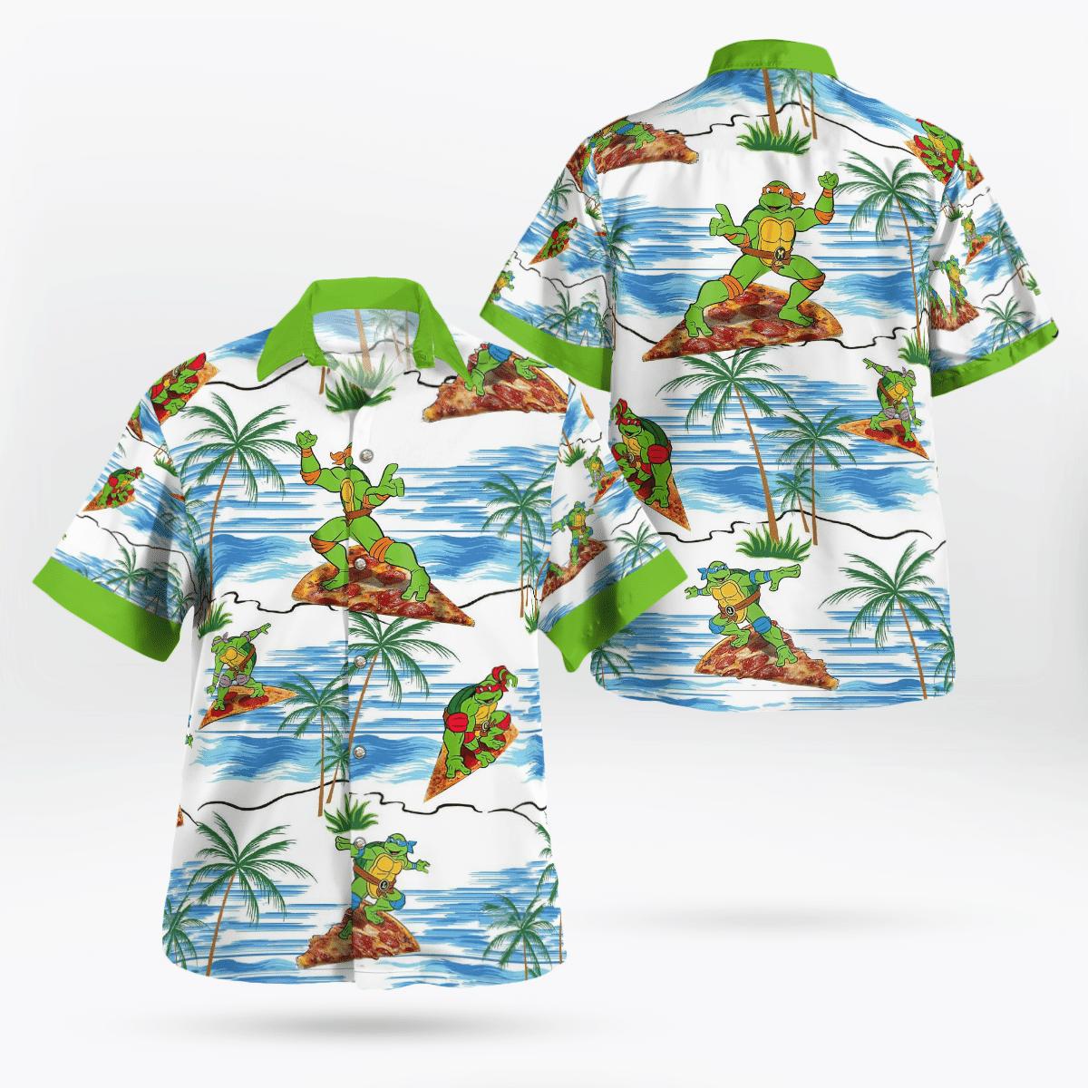 Teenage Mutant Ninja Turtles Surfing Hawaiian Shirt