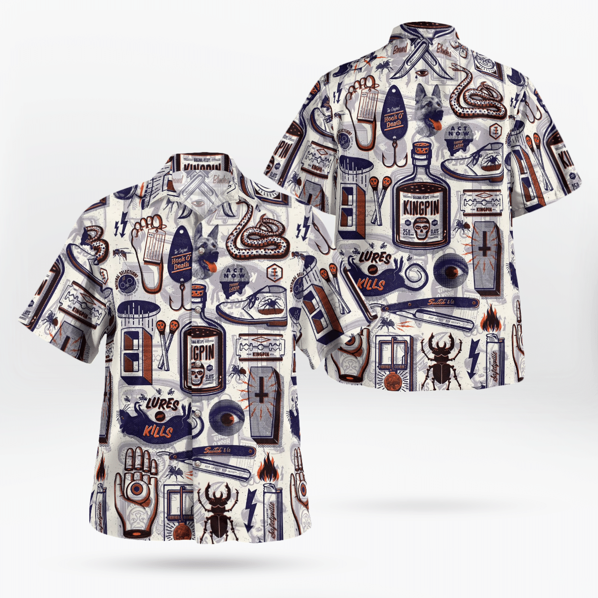 Kingpin Supervillain Hawaiian Shirt