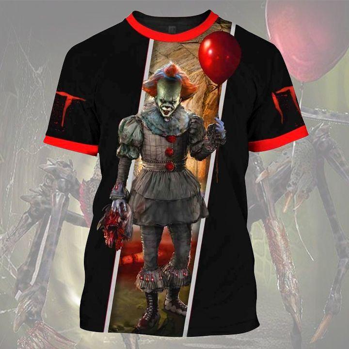 Horror Clown Halloween T Shirt 3D