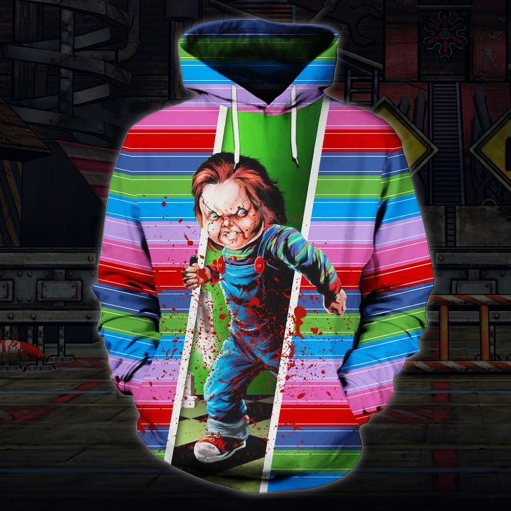 Play With Doll Horror Movie Halloween Hoodie 3D