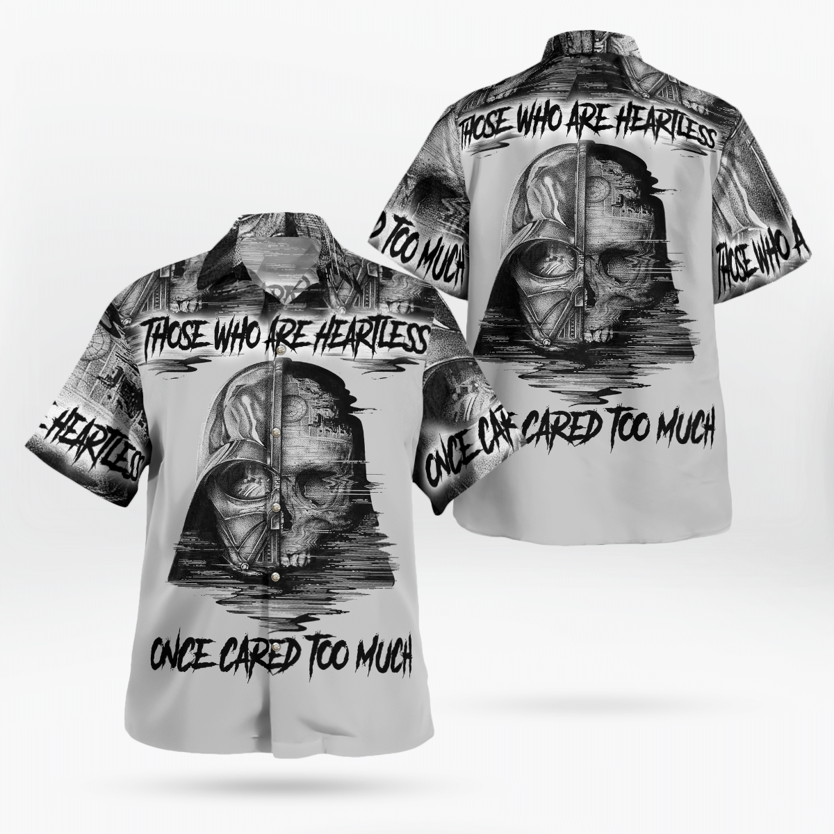 Darth Vader Skull heartless cared too much Hawaiian Shirt