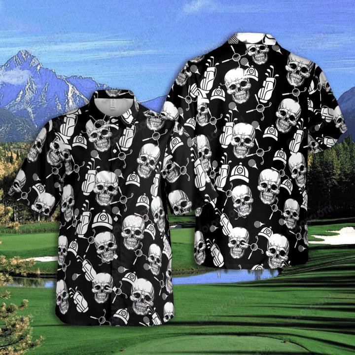 Golf Skull Club Ball Hawaiian Shirt